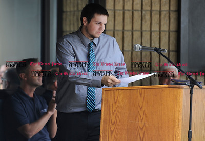 6/16/2016 Mike Orazzi | Staff Bristol Tec Education Class of 2016 Student Council President Alexander Molnar during Thursday morning's certificate ceremony in Bristol.