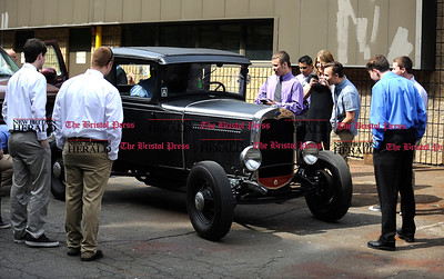 6/16/2016 Mike Orazzi | Staff Bristol Tec Education  Class of 2016 graduates gather around a Ford Model A during Thursday morning's certificate ceremony in Bristol.