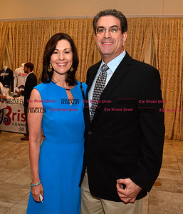 6/16/2016 Mike Orazzi | Staff Mary Lynn Gagnon and Thomas Mazzarella during the Bristol Chamber of Commerce 127th annual awards dinner held at the Aqua Turf Club in Southington Thursday evening.