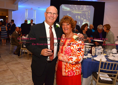 6/16/2016 Mike Orazzi | Staff Gemco Manufacturing President Mark DiVenere and Linda DiMatteo during the Bristol Chamber of Commerce 127th annual awards dinner held at the Aqua Turf Club in Southington Thursday evening.