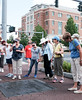 062916  Wesley Bunnell | Staff<br /> <br /> The New Britain Industrial Museum hosted a walk along the New Britain Historic Walking Trail gold loop led by volunteer Andrea Kulak on Wednesday morning.  Walkers are shown in Franklin Square.