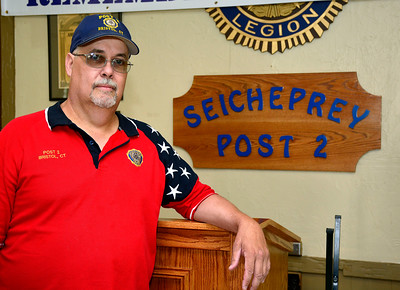 6/30/2016 Mike Orazzi | Staff Richard Schriener of American Legion Post 2 in Bristol.