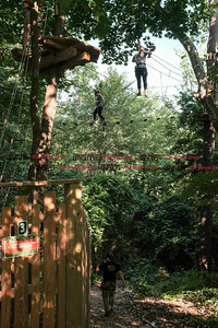 062016  Wesley Bunnell | Staff  Visitors to Go Ape Treetop Adventure in AW Stanley Park are shown on Monday afternoon.
