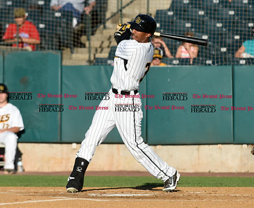 062116  Wesley Bunnell | Staff  New Britain Bees took on visiting Somerset Patriots on Tuesday evening in the second of three games.
