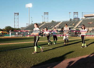 062116  Wesley Bunnell | Staff  New Britain Bees took on visiting Somerset Patriots on Tuesday evening in the second of three games. Players from the CT Impact 12U softball team compete in the teaspoon baseball race.