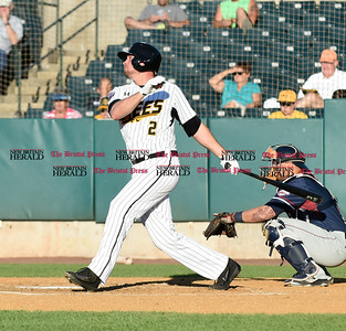 062116  Wesley Bunnell | Staff  New Britain Bees took on visiting Somerset Patriots on Tuesday evening in the second of three games. Jonathan Roof #2