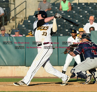 062116  Wesley Bunnell | Staff  New Britain Bees took on visiting Somerset Patriots on Tuesday evening in the second of three games. Jon Griffin #33