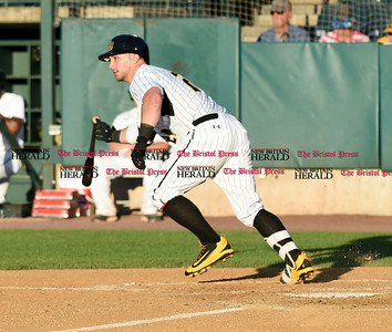 062116  Wesley Bunnell | Staff  New Britain Bees took on visiting Somerset Patriots on Tuesday evening in the second of three games. Craig Maddox #24