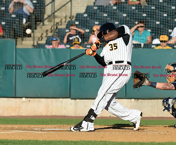 062116  Wesley Bunnell | Staff  New Britain Bees took on visiting Somerset Patriots on Tuesday evening in the second of three games. Jovan Rosa #35