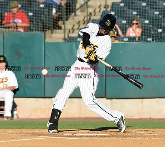 062116  Wesley Bunnell | Staff  New Britain Bees took on visiting Somerset Patriots on Tuesday evening in the second of three games. James Skelton #3.