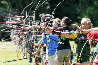 062516  Wesley Bunnell | Staff  The Nutmeg State Games & CTAA Archery Tournament drew competitors from several states to Hungerford Park on Saturday morning.