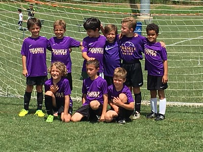 Conalls last soccer game with the purple team!