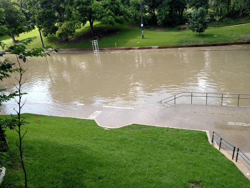 Barton Springs Pool flooded