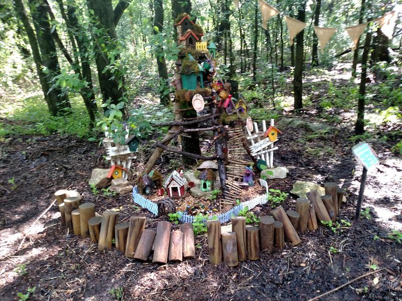 Fairy village installation at Zilker Botanical gardens