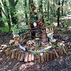 Fairy village installation at Zilker Botanical gardens
