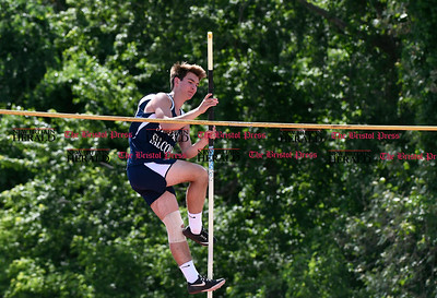 6/1/2017 Mike Orazzi | Staff St. Paul's Vinny Penisse in the pole vault in Willow Brook Park during the Class S Outdoor track meet in New Britain Thursday.