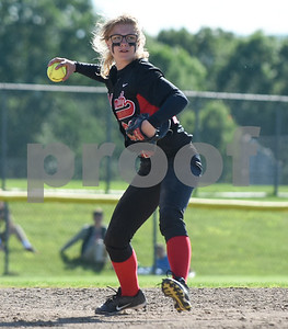 060217  Wesley Bunnell | Staff  Southington High softball defeated E.O. Smith in a quarterfinal game on Friday afternoon. Taylor Verboven (22).
