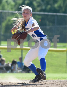 060217  Wesley Bunnell | Staff  Southington High softball defeated E.O. Smith in a quarterfinal game on Friday afternoon. Chrissy Marotto (22).