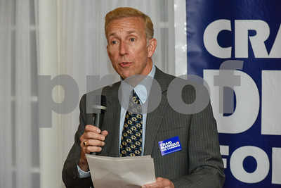 060517 Wesley Bunnell | Staff  Craig Diangelo held a campaign kick off event in his bid to challenge for the District 5 Congressional seat currently held by Congresswoman Elizabeth Esty. The event was held at the Back Nine Tavern at Stanley Golf Course on Monday night.