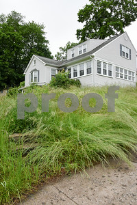 060617 Wesley Bunnell | Staff  Over grown grass dominates the yard at 127 Victoria Rd in New Britain on Tuesday afternoon.
