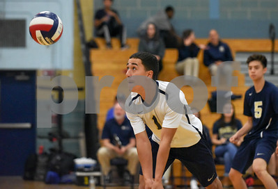 060617 Wesley Bunnell | Staff  Newington boys volleyball defeated Joel Barlow at Kennedy High School in Waterbury in a semi final game to advance to the championship game to be played on June 8. Kevin Bibraut (1).
