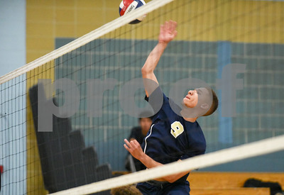 060617 Wesley Bunnell | Staff  Newington boys volleyball defeated Joel Barlow at Kennedy High School in Waterbury in a semi final game to advance to the championship game to be played on June 8. Andres Ithier-Vicenty (9)