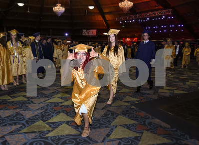 062017  Wesley Bunnell | Staff  Newington High School held their 2017 commencement at the Oakdale Theatre on Tuesday evening.  Students stay loose as they que in the lobby prior to the start of the ceremony.