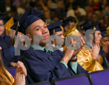062017  Wesley Bunnell | Staff  Newington High School held their 2017 commencement at the Oakdale Theatre on Tuesday evening. Andres Ithier-Vincente.