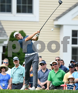 062517  Wesley Bunnell | Staff  Action from final day of the Travelers Championship on Sunday. Jordan Spieth would go on to hole out from the bunker on the first playoff hole against Dustin Berger to win the 2017 Travelers Championship. Jordan Spieth on the tee.