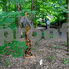062317  Wesley Bunnell | Staff<br /> <br /> The Art League of New Britain along with the New Britain Youth Museum held an art show titled Summer Solstice Sculpture Walk on Friday June 23. Guests take a self guided tour though the trail where artists placed their sculptures.
