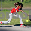 062617  Wesley Bunnell | Staff<br /> <br /> Bristol defeated Berlin on Monday evening in Plainville to claim the Little Leage District 5 Softball Championship. Bristol's Alexa Prendergast (18) makes a play at second base.