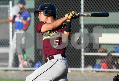 062317  Wesley Bunnell | Staff  Berlin defeated New Britain in Legion Baseball on Friday June 23 by the score of 6-2. New Britain's Tahj McCall (5) at bat.