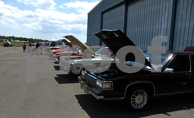 6/10/2017 Mike Orazzi | Staff Cars on display during the Wings and Wheels Festival at Robertson Airport in Plainville Saturday.