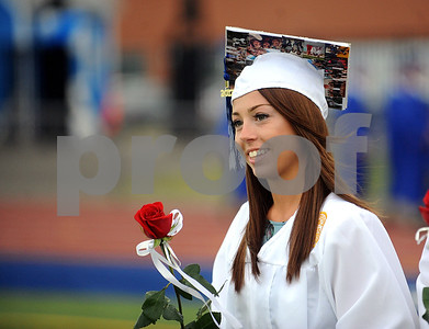 6/15/2017 Mike Orazzi | Staff Plainville High School graduate Alexis Diorio at the graduation ceremony Thursday evening.