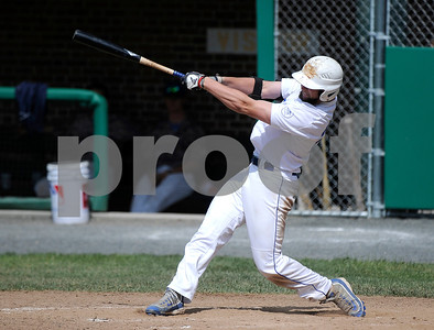 6/15/2017 Mike Orazzi | Staff Bristol Blues' Mitch Guilmette (20) Thursday at Muzzy Field.
