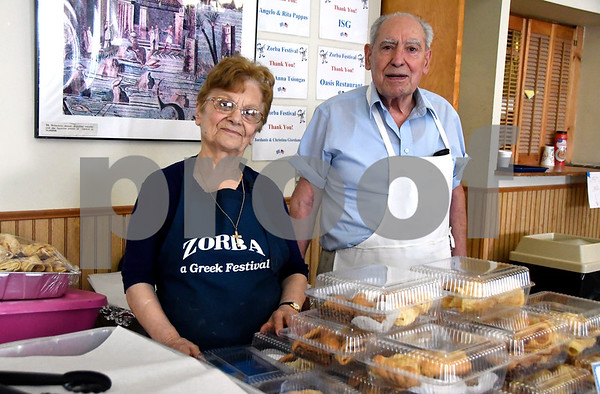 6/16/2017 Mike Orazzi | Staff Rita and Angelo Pappas during the 34th Annual Greek Festival Zorba 2017 at St. Demetrios Greek Orthodox Church in Bristol Friday.