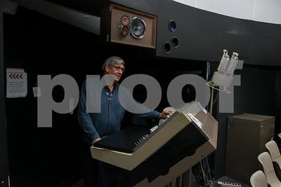 061617  Wesley Bunnell | Staff  CCSU Planetarium Director Craig Robinson works the controls of the planetarium inside of CCSU's Copernicus Hall.