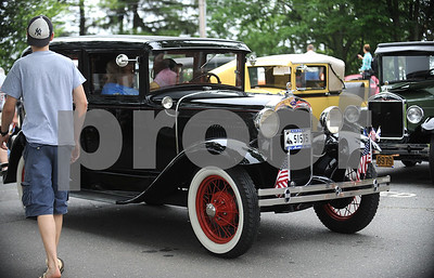 6/17/2017 Mike Orazzi | Staff A 1930 Ford Model A arrives at the Klingberg Vintage Motorcar Festival in New Britain Saturday morning.