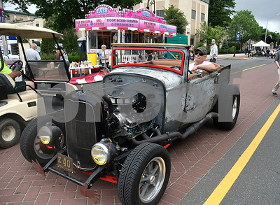 6/17/2017 Mike Orazzi | Staff Mike Pelletier arrives in his 1932 Roadster Pick Up during The 8th Annual Bill Englert Memorial Auto Show held on North Main Street in Bristol Saturday.