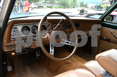 6/17/2017 Mike Orazzi | Staff The interior of Dennis Delaney's  1978 Jeep Cherokee during The 8th Annual Bill Englert Memorial Auto Show held on North Main Street in Bristol Saturday.