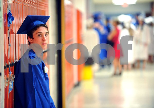 6/20/2017 Mike Orazzi | Staff Southington High School graduate Kyle Solomon at SHS for Tuesday night's graduation ceremony.