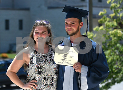 6/20/2017 Mike Orazzi | Staff Bristol Technical Education Center graduate Jason Porrini Jr. and his sister Shaely after Tuesday's ceremony held at the Bristol Boys & Girls Club in Bristol.