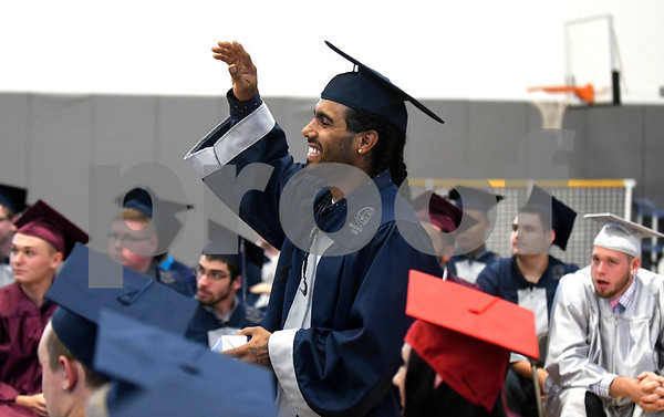 6/20/2017 Mike Orazzi | Staff Bristol Technical Education Center graduate Ricky Torres during Tuesday's ceremony held at the Bristol Boys & Girls Club in Bristol.