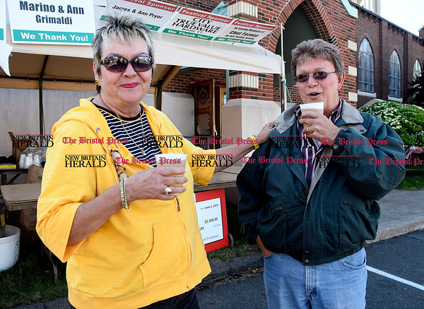 6/1/2017 Mike Orazzi | Staff Claire and Larry Lessard during the St. Anthonys Italian Festival Friday evening.