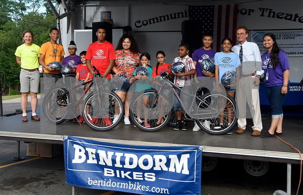 6/22/2017 Mike Orazzi | Staff Cambridge Park student were honored with free bikes during the Bristol Boys & Girls Club Reach for the Stars event Thursday night.