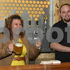 062317  Wesley Bunnell | Staff<br /> <br /> Alvarium Beer Company held a ribbon cutting on Friday and became the first brewery open in New Britain since the mid 1950's. Mayor Erin Stewart laughs along with Alvarium co-founder Mike Larson.