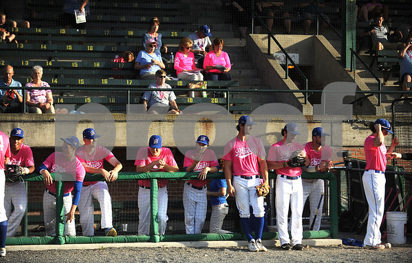 6/23/2017 Mike Orazzi | Staff The Bristol Hospital Pink Night at the Bristol Blues game at Muzzy Field.