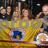 062317  Wesley Bunnell | Staff<br /> <br /> Alvarium Beer Company held a ribbon cutting on Friday and became the first brewery open in New Britain since the mid 1950's. Holding a City of New Britain flag is Alvarium Beer co-founder Chris DeGasero, co-founder Brian Bugnacki, Mayor Erin Stewart  co-founder Mike Larson.