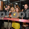 062317  Wesley Bunnell | Staff<br /> <br /> Alvarium Beer Company held a ribbon cutting on Friday and became the first brewery open in New Britain since the mid 1950's. Among those present at the ribbon cutting were Economic Development Director Bill Carrol, L, Alvarium Beer co-founder Chris DeGasero, co-founder Brian Bugnacki, Mayor Erin Stewart & co-founder Mike Larson.