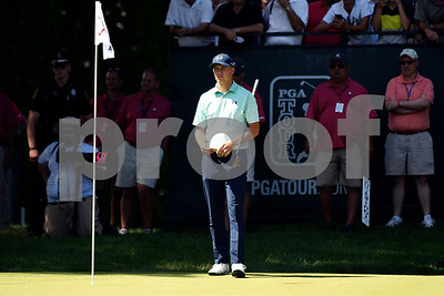 6/24/2017 Mike Orazzi | Staff Jordan Spieth during the Travelers Championship held at the TPC River Highlands Saturday.